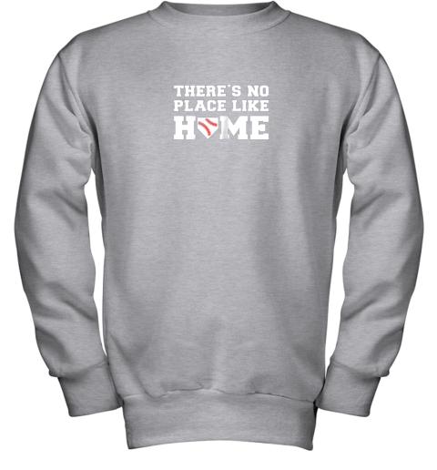 u32n there39 s no place like home baseball shirt kids baseball tee youth sweatshirt 47 front sport grey
