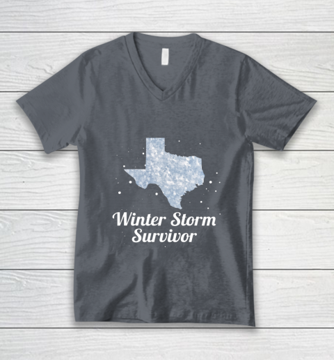 I Survived Winter Storm Texas 202 V-Neck T-Shirt 12