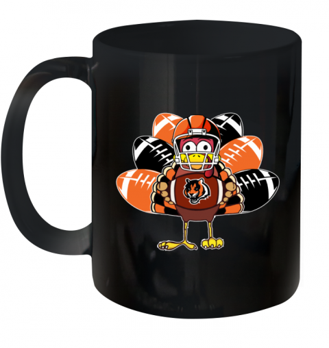 Cincinnati Bengals  Thanksgiving Turkey Football NFL Ceramic Mug 11oz
