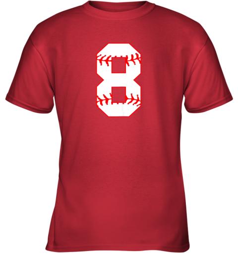 4bq0 cute eighth birthday party 8th baseball shirt born 2011 youth t shirt 26 front red