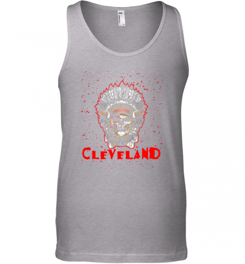 stoq cleveland hometown indian tribe vintage baseball fan awesome unisex tank 17 front sport grey
