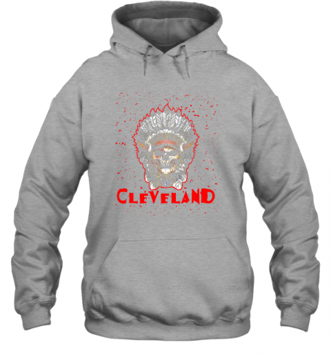 phgn cleveland hometown indian tribe vintage baseball fan awesome hoodie 23 front sport grey