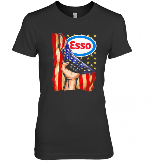 Esso American Flag Independence Day Premium Women's T-Shirt