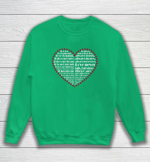 Love is patient love is kind Valentine Hearts Valentines day Sweatshirt 5