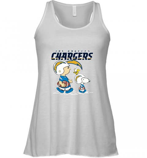 Los Angeles Chargers Let's Play Football Together Snoopy NFL Racerback Tank
