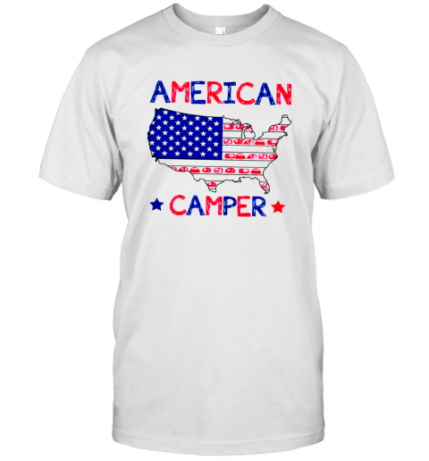 4th of July American camper independence day shirt T-Shirt