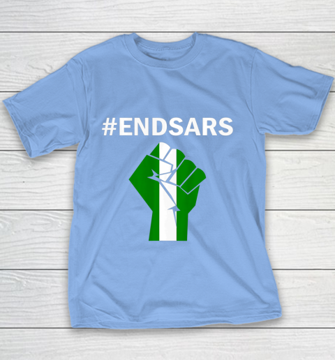 EndSARS End SARS Nigeria Flag Colors Strong Fist Protest Youth T-Shirt 8