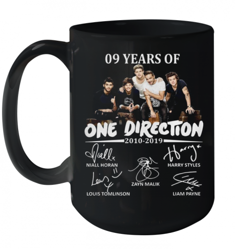 09 Years Of One Direction 2010 2019 Signatures Ceramic Mug 15oz