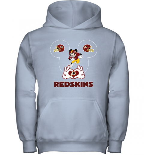wcro i love the redskins mickey mouse washington redskins youth hoodie 43 front light pink