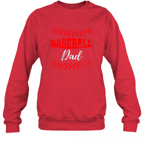 vghq mens baseball inspired dad fathers day sweatshirt 35 front red