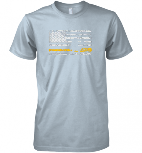 puuw softball catcher shirts baseball catcher american flag premium guys tee 5 front light blue