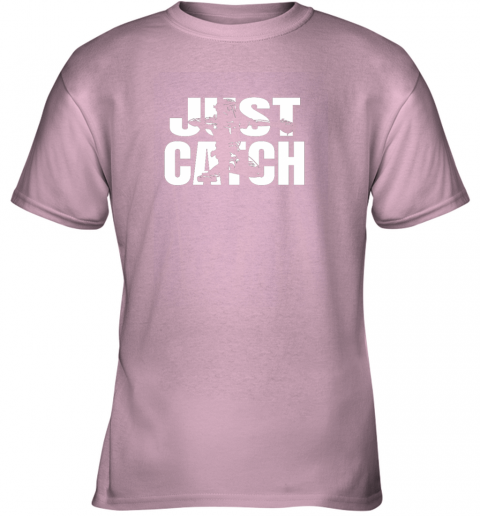 bz6z just catch baseball catchers long sleeve shirt baseballisms youth t shirt 26 front light pink