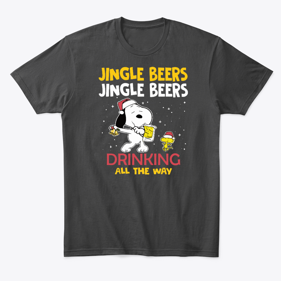 Jingle Beers Drinking All The Way Snoopy T-Shirt