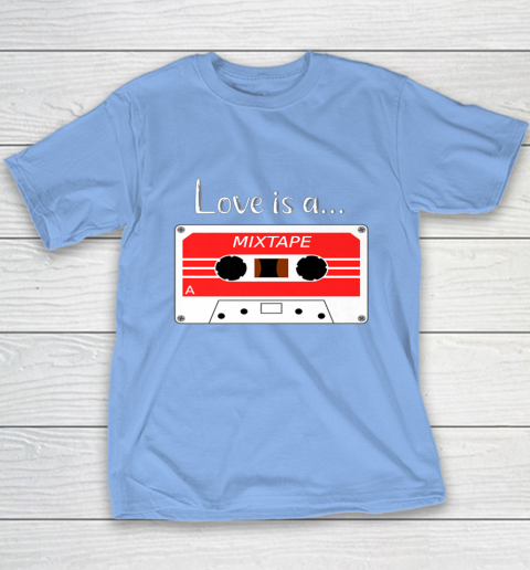 Love is a MixTape Retro Old School Valentine Youth T-Shirt 8
