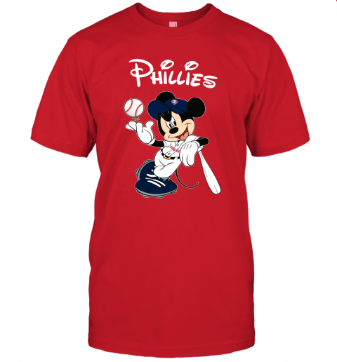 vdxf baseball mickey team philadelphia phillies jersey t shirt 60 front red