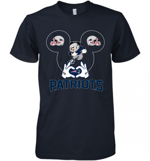 yeyk i love the patriots mickey mouse new england patriots premium guys tee 5 front midnight navy