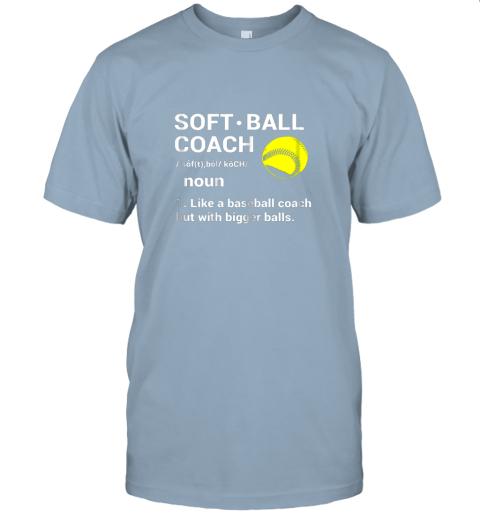 l2tp soft ball coach like baseball bigger balls softball jersey t shirt 60 front light blue