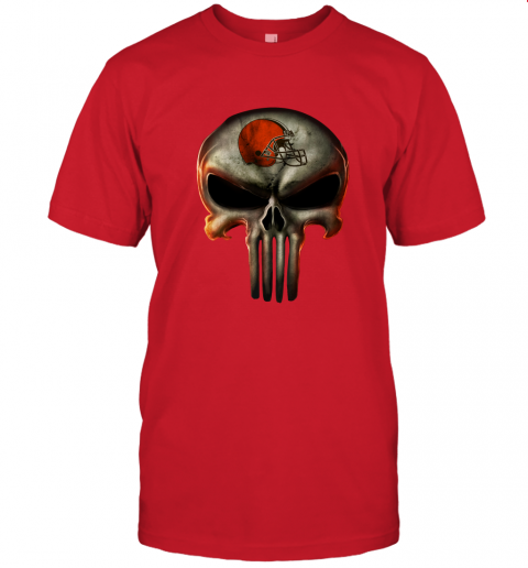 aa4h cleveland browns the punisher mashup football jersey t shirt 60 front red