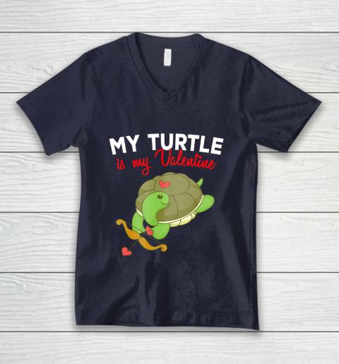 Turtle Valentine T Shirt Sea Turtle Cupid Valentines Day V-Neck T-Shirt 2