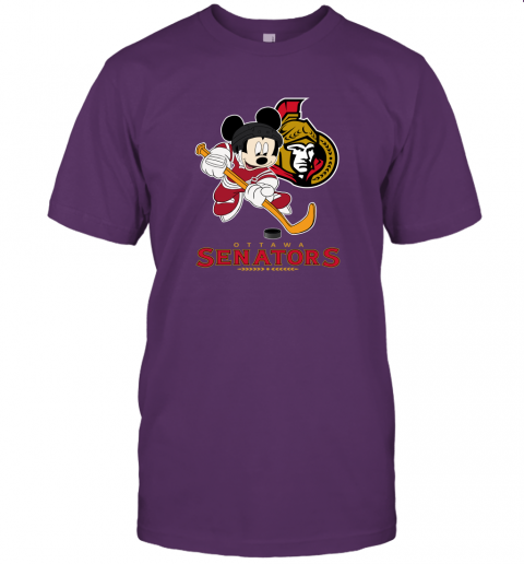 nry4 nhl hockey mickey mouse team ottawa senators jersey t shirt 60 front team purple