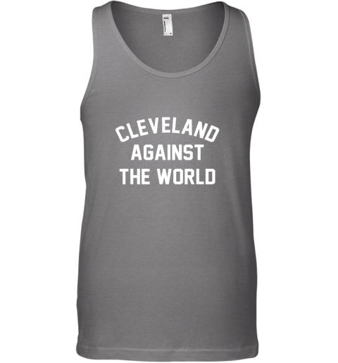 olan cleveland against the world football baseball basketball unisex tank 17 front graphite heather