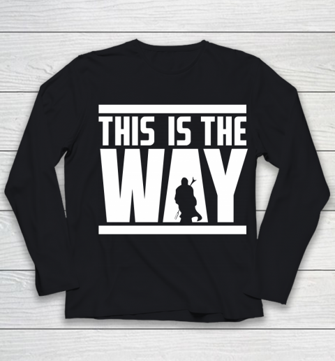 Star Wars Shirt This is the way Youth Long Sleeve