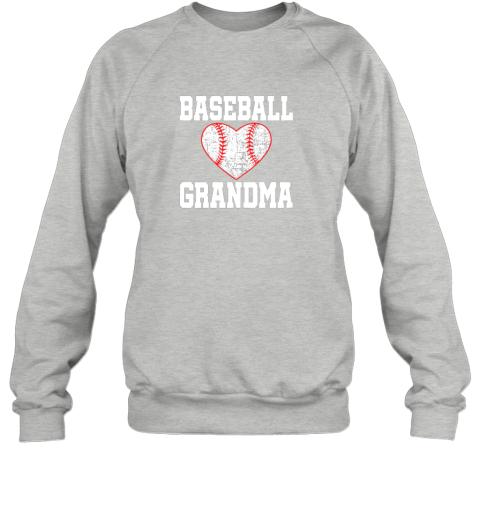 sya6 vintage baseball grandma funny gift sweatshirt 35 front sport grey