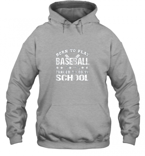 pmyy born to play baseball forced to go to school hoodie 23 front sport grey