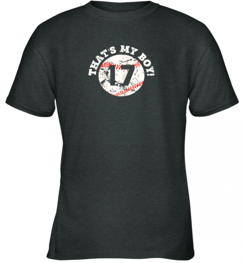 lj33 that39 s my boy 17 baseball player mom or dad gift youth t shirt 26 front dark heather