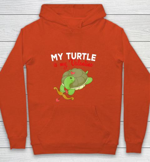 Turtle Valentine T Shirt Sea Turtle Cupid Valentines Day Youth Hoodie 3