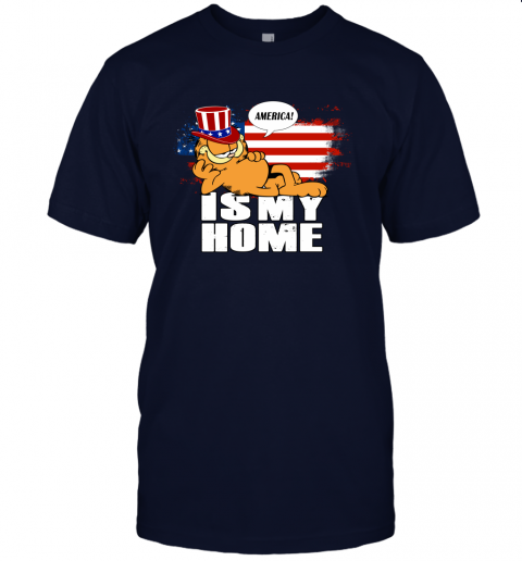 America Is My Home Garfield Independence Day 4th Of July Unisex Jersey Tee