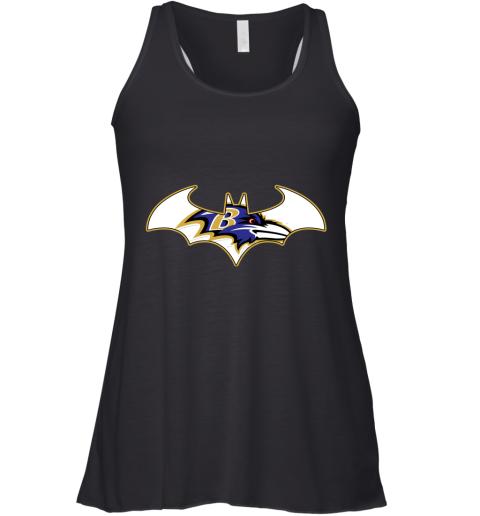 vhxx we are the baltimore ravens batman nfl mashup flowy tank 32 front black