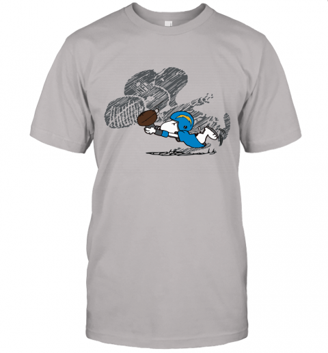Los Angeles Chargers Snoopy Plays The Football Game Unisex Jersey Tee
