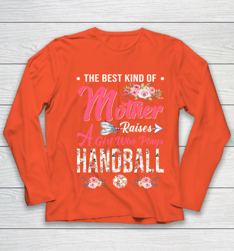 Handball the best kind of mother raises a girl Youth Long Sleeve 3