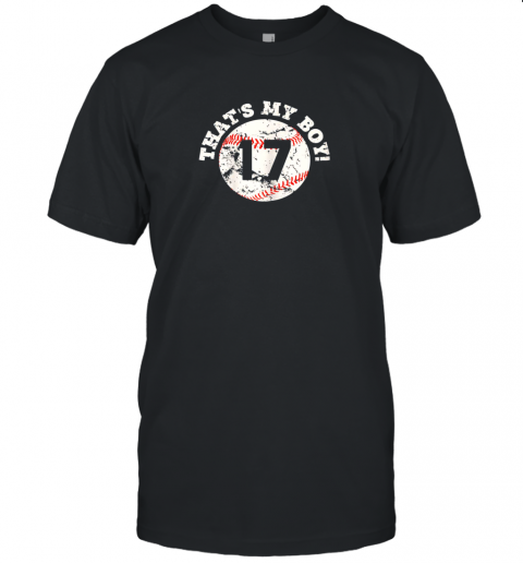 That's My Boy #17 Baseball Player Mom or Dad Gift Unisex Jersey Tee