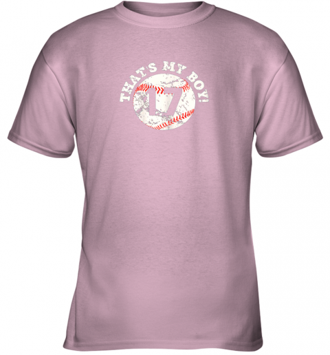 lj33 that39 s my boy 17 baseball player mom or dad gift youth t shirt 26 front light pink