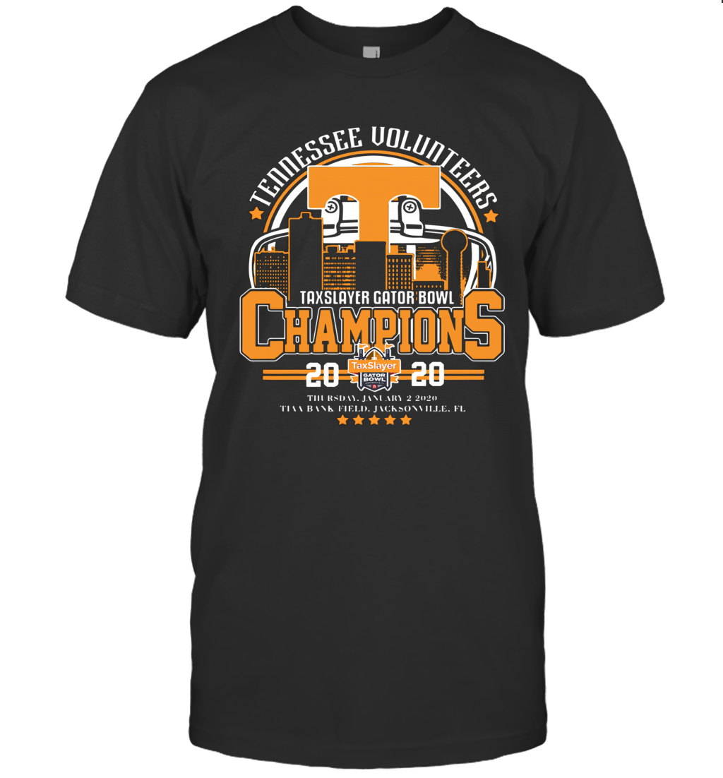 Tennessee Volunteers Taxslayer Gator Bowl Champions 2020 T-Shirt