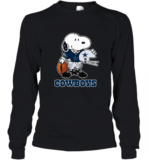 Snoopy Strong And Proud Dallas Cowboys Player NFL Youth Long Sleeve