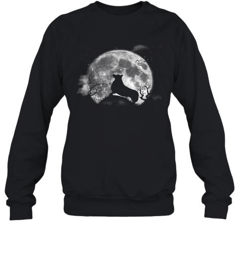 Corgi And Moon Halloween Funny Halloween Dog Tee Sweatshirt