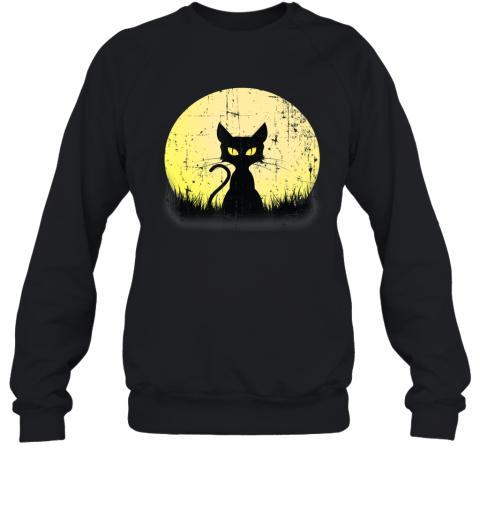 Vintage Halloween Beistle Cat on the Moon Horror Gift 2 Sweatshirt
