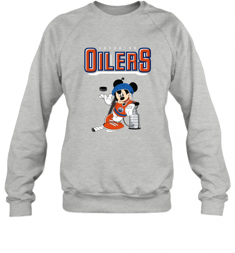 v2qw mickey edmonton oilers with the stanley cup hockey nhl shirt sweatshirt 35 front sport grey