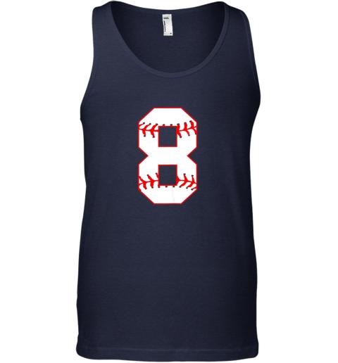 pewo cute eighth birthday party 8th baseball shirt born 2011 unisex tank 17 front navy