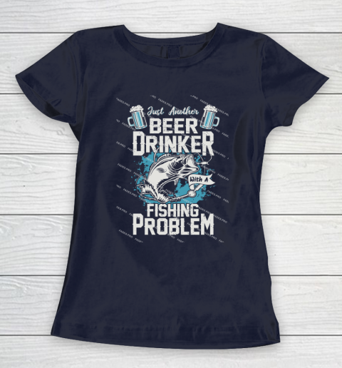 Beer Lover Funny Shirt Fishing ANd Beer Women's T-Shirt 2