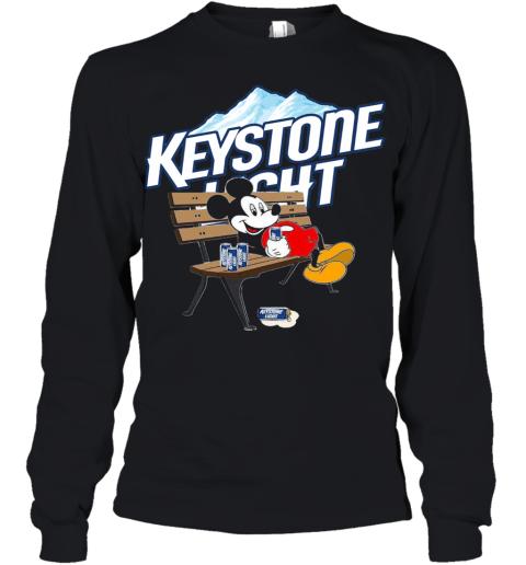 Mickey Mouse Drink Keystone Light Youth Long Sleeve