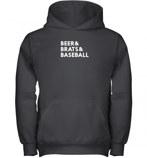 u3r8 beer brats baseball summer ampersand list youth hoodie 43 front black