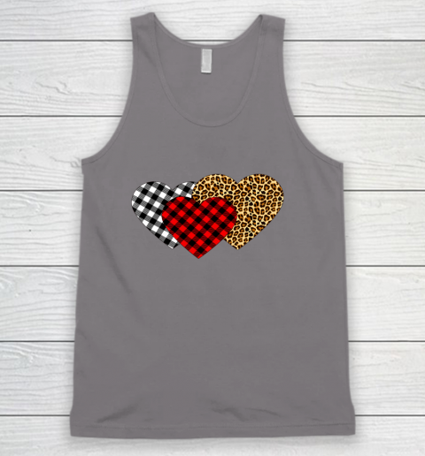 Leopard Heart Buffalo Plaid Heart Valentine Day Tank Top 6