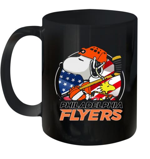 Philadelphia Flyers   Snoopy And Woodstock NHL Ceramic Mug 11oz
