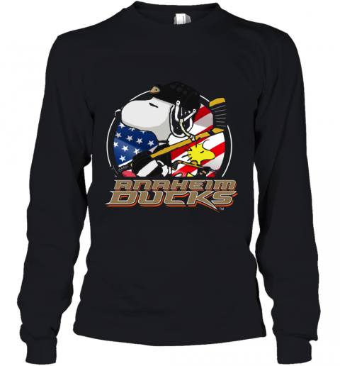 Anaheim Ducks  Snoopy And Woodstock NHL Youth Long Sleeve
