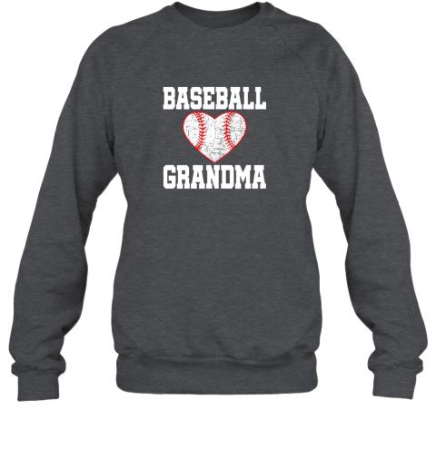 sya6 vintage baseball grandma funny gift sweatshirt 35 front dark heather