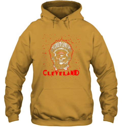 phgn cleveland hometown indian tribe vintage baseball fan awesome hoodie 23 front gold
